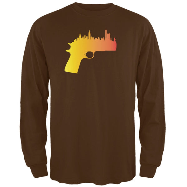 1911 Skyline Brown Adult Long Sleeve T-Shirt