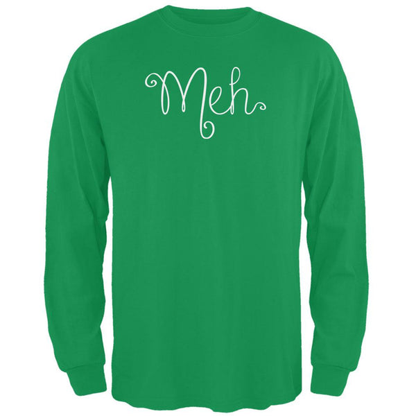 Meh Irish Green Adult Long Sleeve T-Shirt