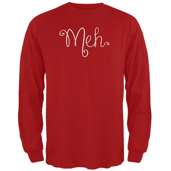Meh Red Adult Long Sleeve T-Shirt