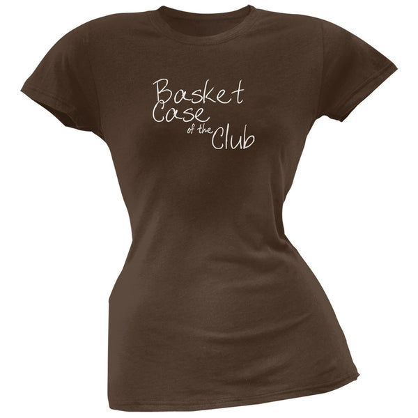 Basket Case of the Club Brown Juniors Soft T-Shirt