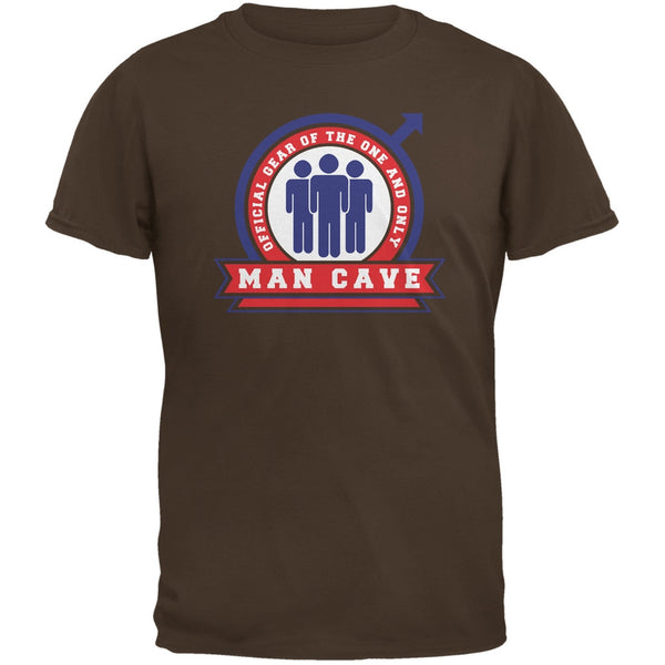 Official Man Cave Gear Brown Adult T-Shirt