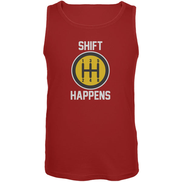 Shift Happens Red Adult Tank Top