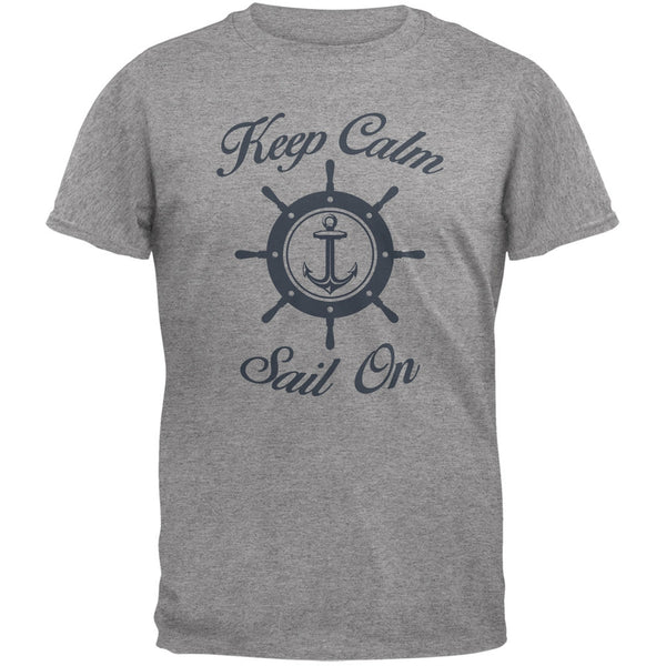 Sail On Heather Grey Adult T-Shirt