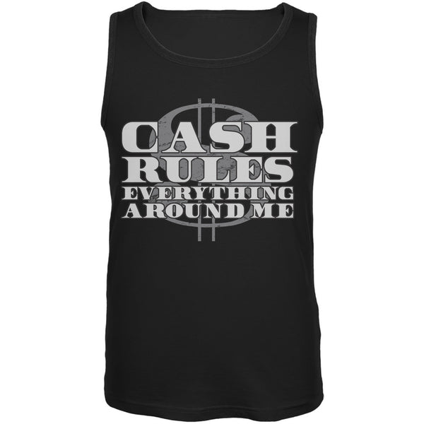 Cash Rules Black Adult Tank Top