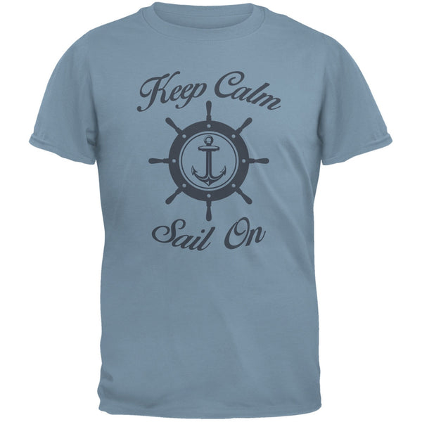Sail On Stone Blue Adult T-Shirt