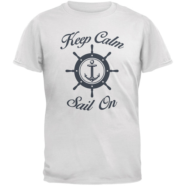Sail On White Adult T-Shirt