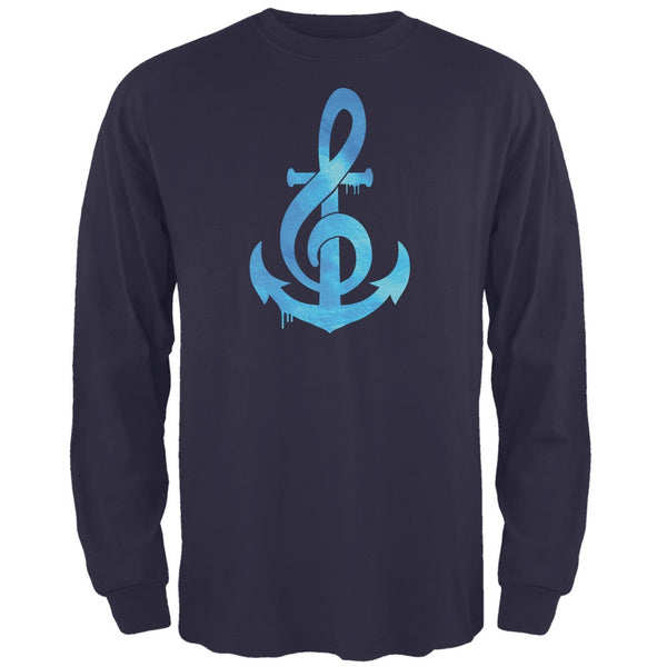 Anchor Clef Navy Adult Long Sleeve T-Shirt