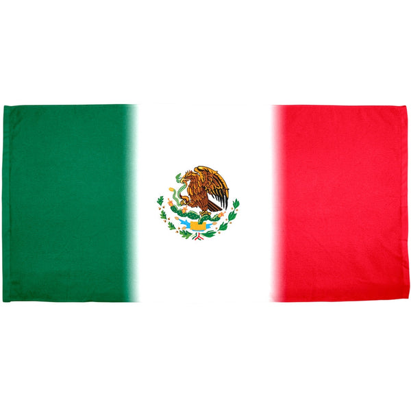Cinco De Mayo - Mexican Flag All Over Terry Cloth Bath Towel