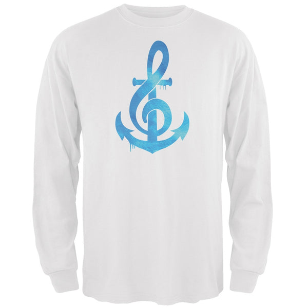 Anchor Clef White Adult Long Sleeve T-Shirt