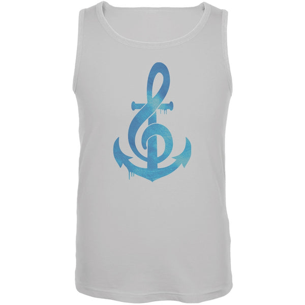 Anchor Clef White Adult Tank Top