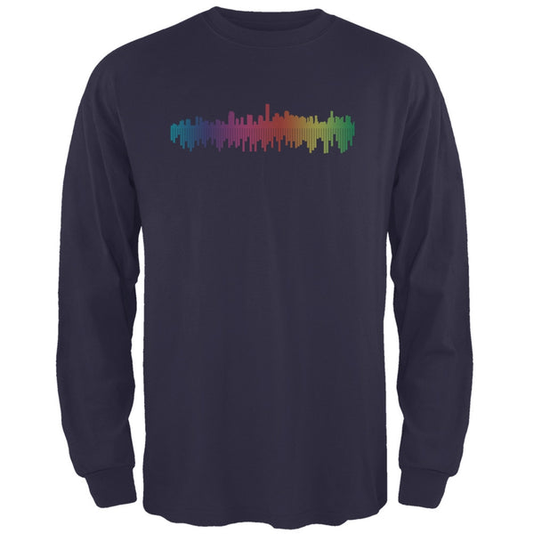City Levels Navy Adult Long Sleeve T-Shirt