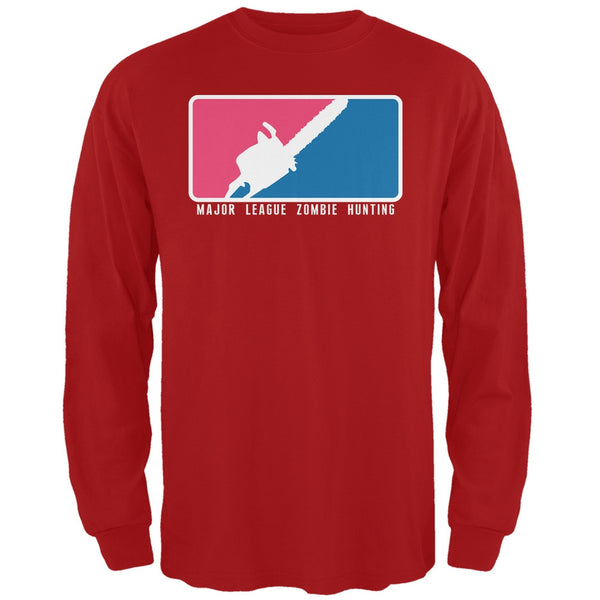 Major League Zombie Hunter Red Adult Long Sleeve T-Shirt
