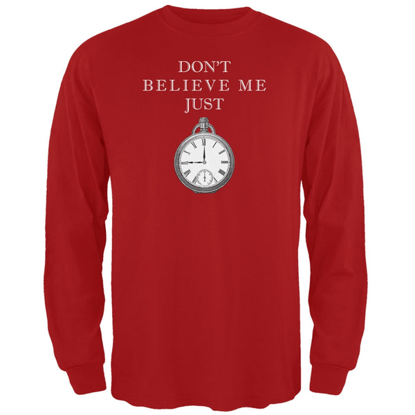 Dont Believe Me Red Adult Long Sleeve T-Shirt