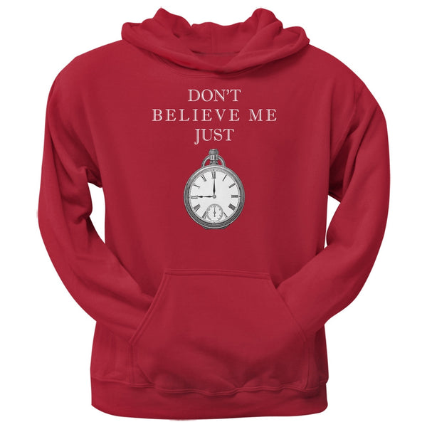 Dont Believe Me Red Adult Hoodie