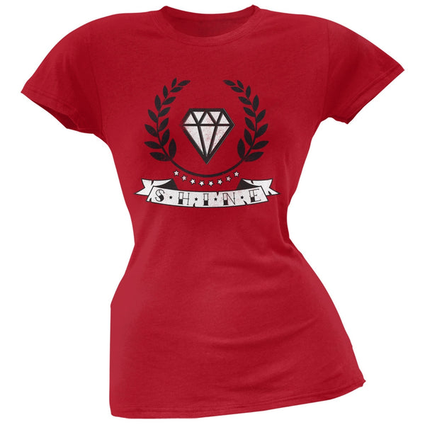 Shine Red Soft Juniors T-Shirt