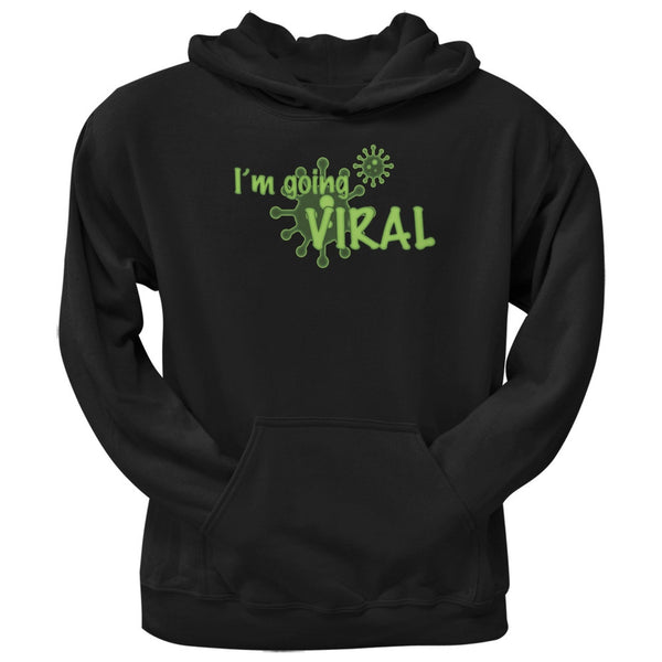 Going Viral Funny Flu Black Black Adult Hoodie