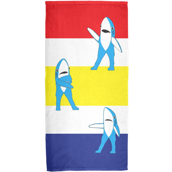 Halftime Left Shark Beach Ball All Over Bath Towel