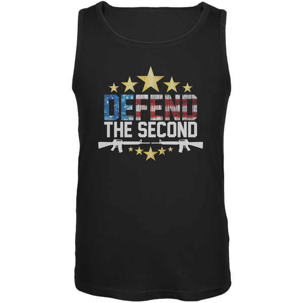 Defend The Second Black Adult Tank Top