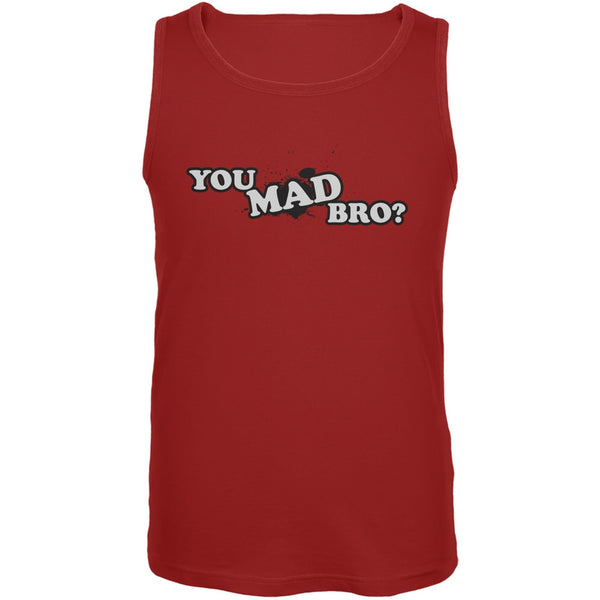 You Mad Bro? Red Adult Tank Top