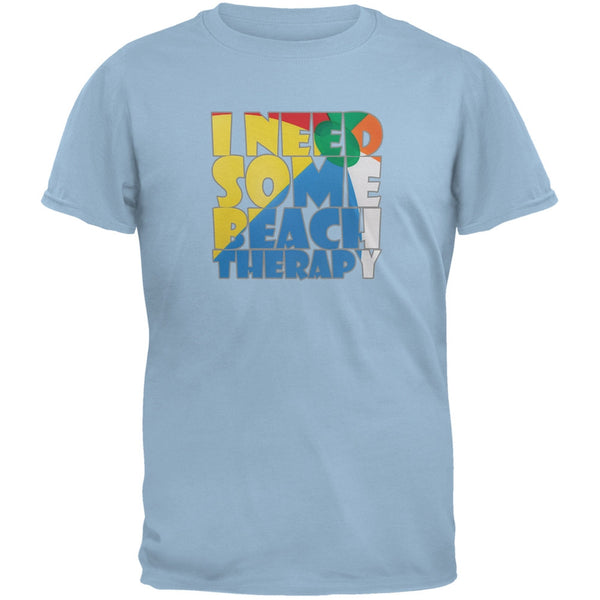 Beach Therapy Light Blue Adult T-Shirt