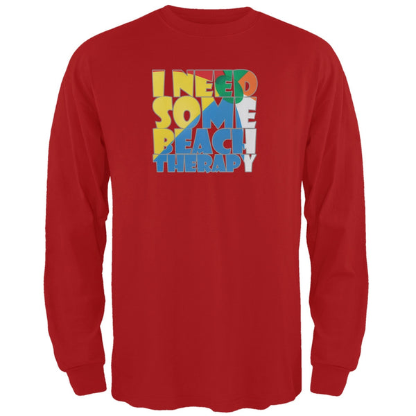 Beach Therapy Red Adult Long Sleeve T-Shirt