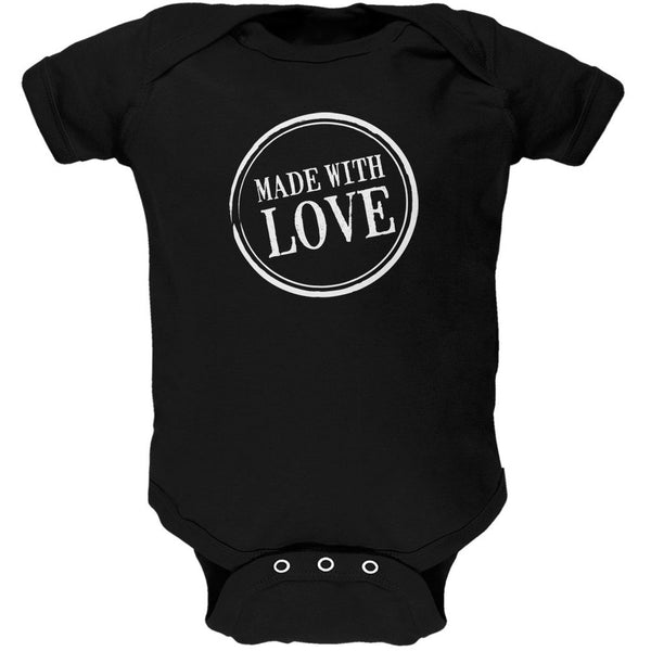 Valentine's Day - Made With Love Hot Pink Soft Baby One Piece