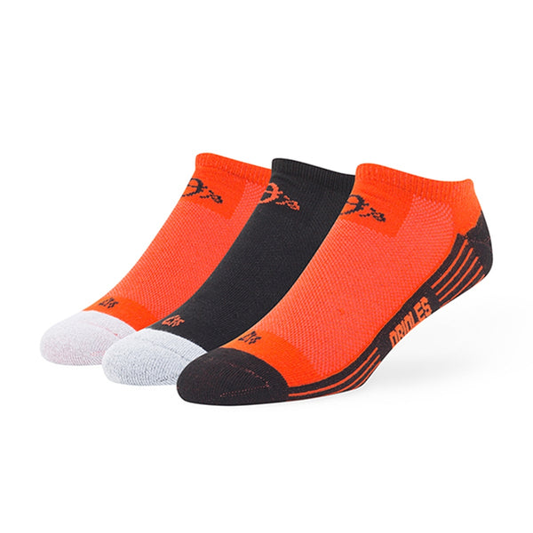 Baltimore Orioles - Team Color Float 3 Pack No Show Socks