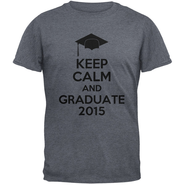 Keep Calm Graduate 2015 Dark Heather Adult T-Shirt