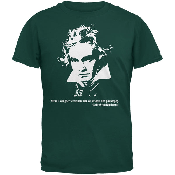 Beethoven Forest Green Adult T-Shirt