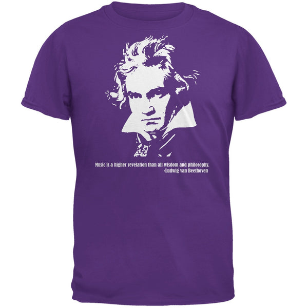 Beethoven Purple Adult T-Shirt
