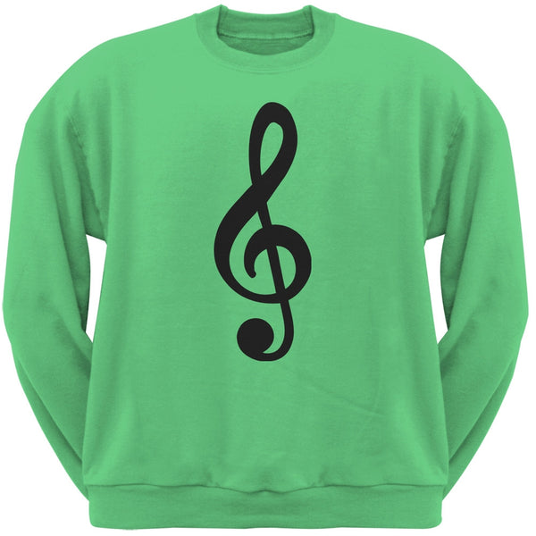 Treble Clef Irish Green Adult Sweatshirt