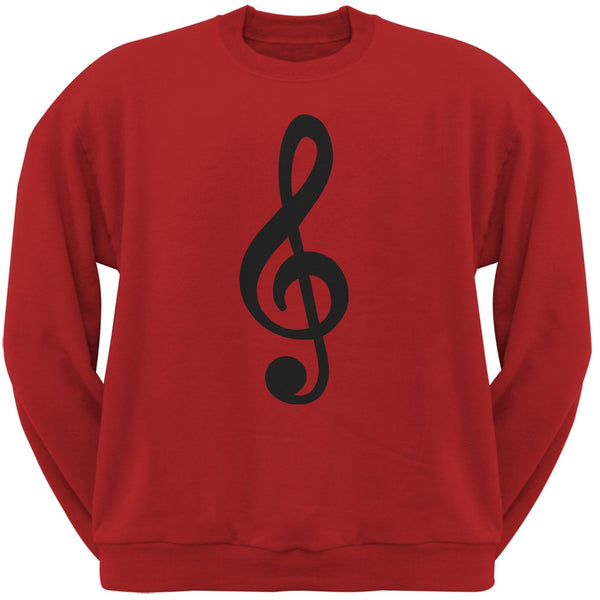 Treble Clef Red Adult Sweatshirt