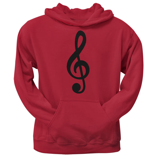 Treble Clef Red Adult Hoodie