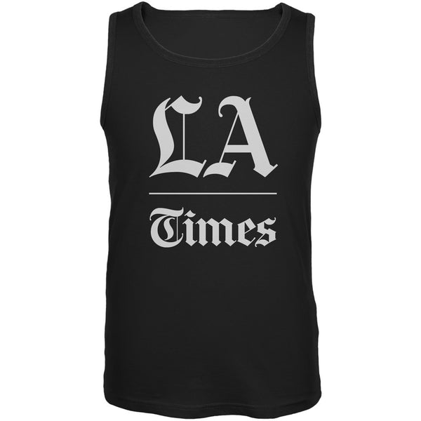 Los Angeles Times Stacked Logo Black Adult Tank Top