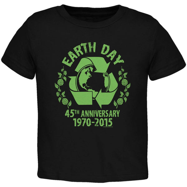 Earth Day - 45th Anniversary Black Toddler T-Shirt