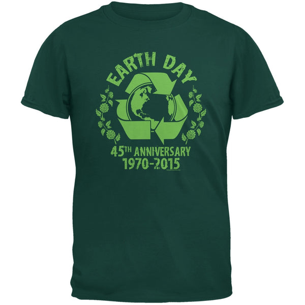 Earth Day - 45th Anniversary Forest Green Adult T-Shirt