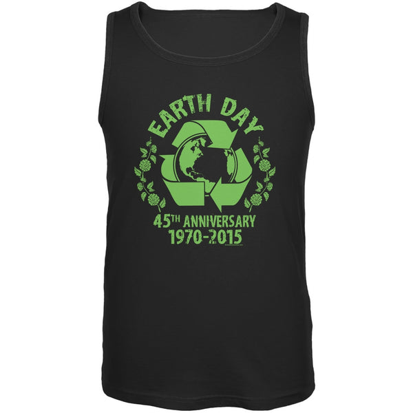 Earth Day - 45th Anniversary Black Adult Tank Top