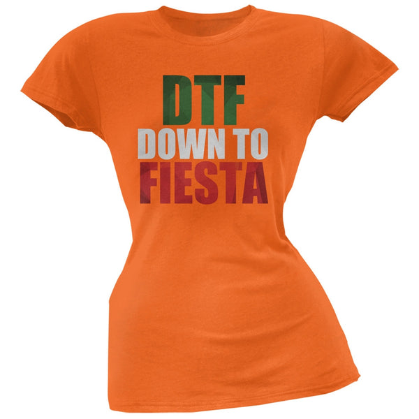 Cinco de Mayo - DTF, Down to Fiesta Orange Soft Juniors T-Shirt