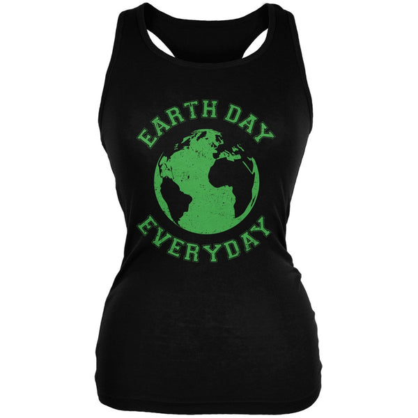 Earth Day - Earth Day Everyday Black Juniors Soft Tank Top