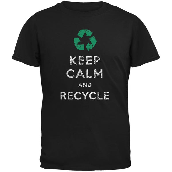 Earth Day - Keep Calm & Recycle Black Youth T-Shirt