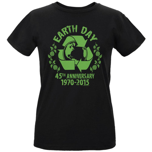 Earth Day - 45th Anniversary Women's Organic Black T-Shirt