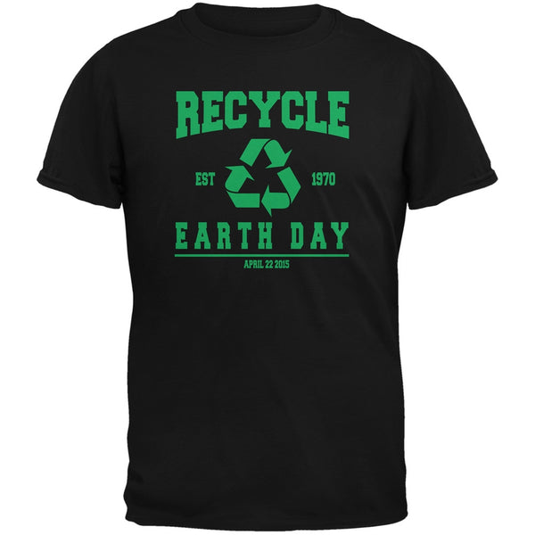 Earth Day - Recycle 1970 Black Adult T-Shirt