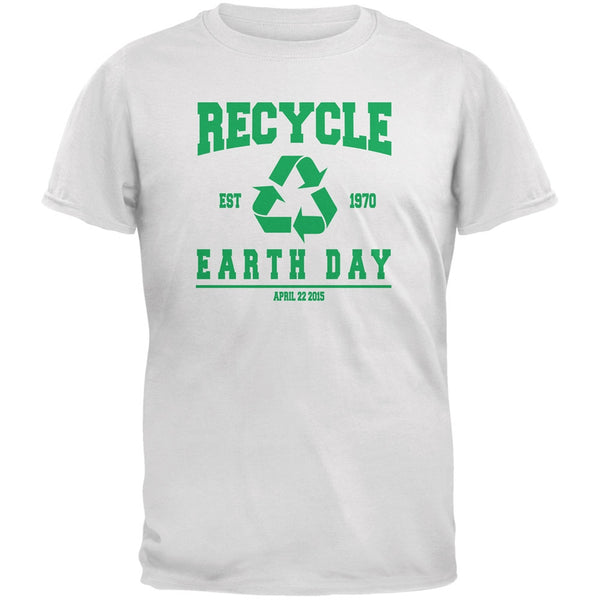 Earth Day - Recycle 1970 White Adult T-Shirt