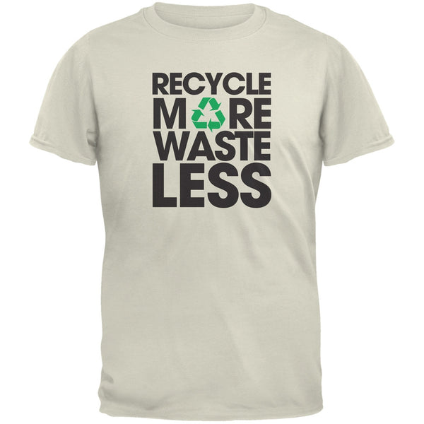 Earth Day - Recycle More Waste Less Natural Adult T-Shirt
