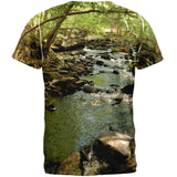 Earth Day River Woods Hiking All Over Adult T-Shirt