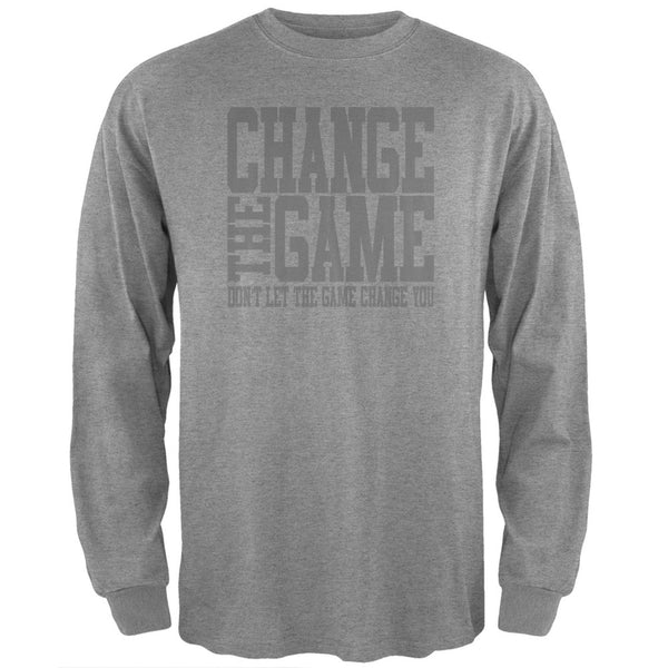 Graduation - Change the Game Heather Grey Adult Long Sleeve T-Shirt