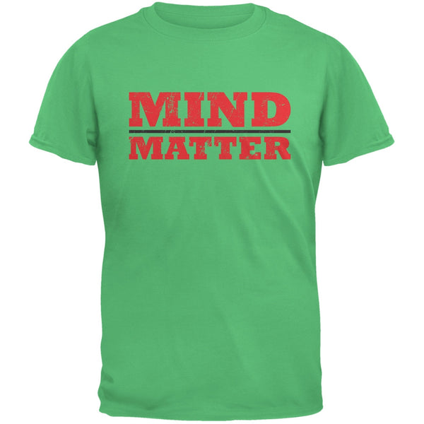 Mind Over Matter Irish Green Adult T-Shirt