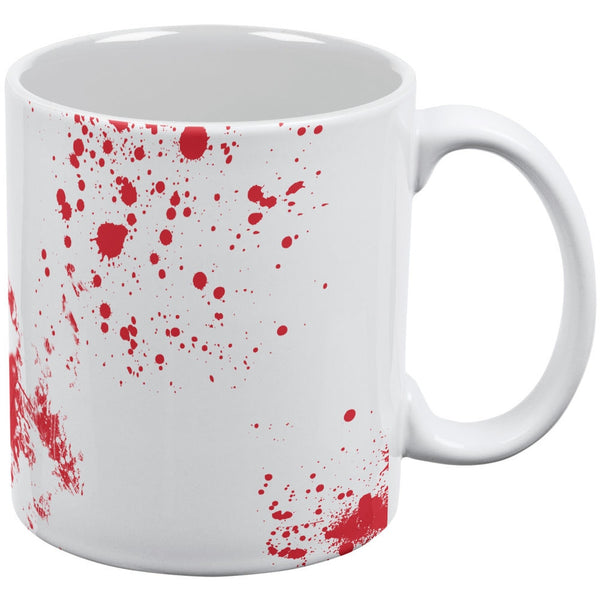 Blood Splatter White All Over Coffee Mug