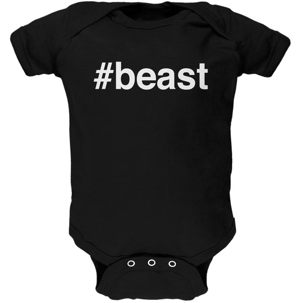 #beast Black Soft Baby One Piece