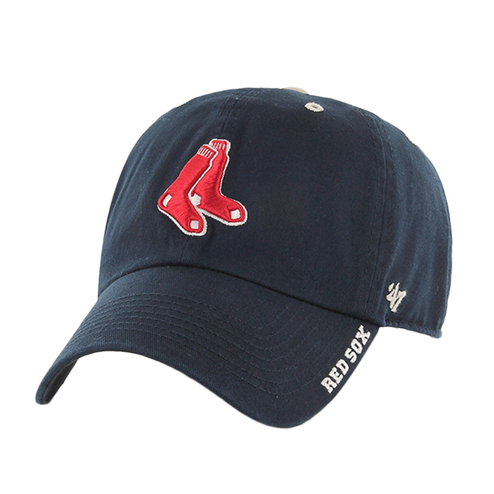 Boston Red Sox - Socks Logo Clean Up Adjustable Navy Baseball Cap ... c41606592d5e